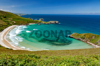 Beach of Torimbia near to Llanes village