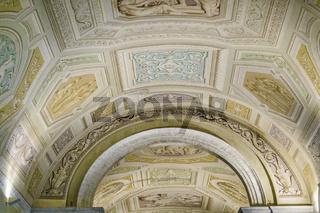 Vatican Museum Interior Ceiling View