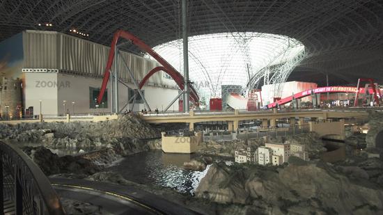Attraction RC Challenge in the theme park Ferrari World Abu Dhabi