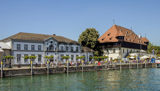 Konstanzer Hafen mit Konzilgebäude