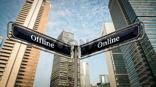 Street Sign to Online versus Offline