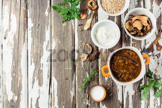 Dried Wild Mushroom Soup