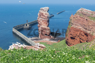 Cliff Lange Anna at western point of German island Helgoland