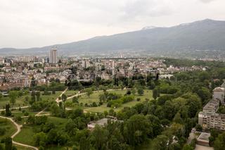 Aerial view of Sofia, Bulgaria