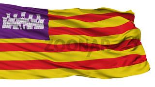 Balearic Islands Flag, Isolated On White