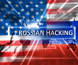 Russian Hacking Usa Russia Map 3d Illustration