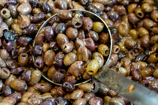 Pitted and Seasoned Black Leccino Olives
