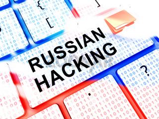 Keyboard Hacking Russian Hackers Online 3d Illustration