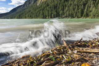 Splashes on the edge of Lake Plansee