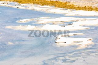 Chile Atacama desert salt islands in the lagoon