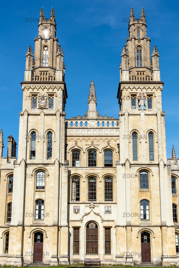 The All Souls College in Oxford, UK