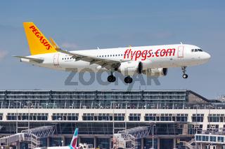Pegasus Airlines Airbus A320neo airplane Stuttgart airport