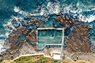 Coalcliff rock pool aerial shot above