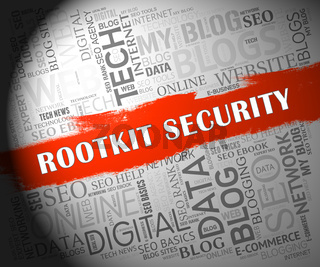 Rootkit Security Data Hacking Protection 2d Illustration