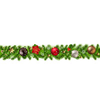Christmas Border Isolated
