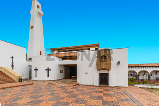 Colombia Guatavita our lady of sorrows parish  panoramic view