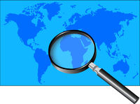 Magnifier and World Map