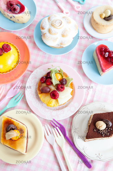 Delicious cakes and pies