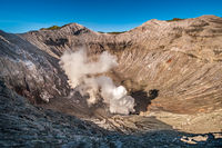 The crater of Bromo Volcano in Java, Indonesia