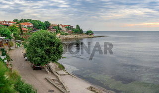 Seashore in the ancient city of Nessebar, Bulgaria