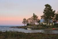 Summer evening at Lake Vanern, Sweden.