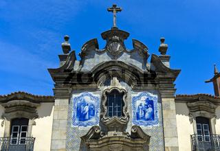 Keramikfliesen an der Kapelle der Barmherzigkeit,Sao Joao da Pesqueira, Portugal