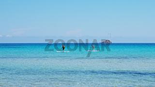 'Stand Up Paddling' - Pinarellu - Korsika