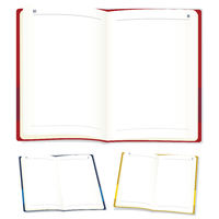 Open blank agenda with copy space in three positions.