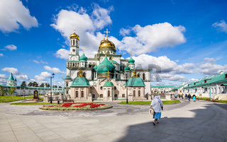 View on New Jerusalem monastery in Istra, Russia