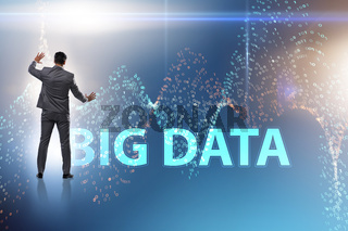 The big data concept with data mining analyst
