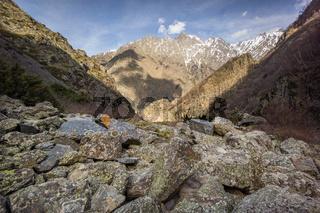 boulders in caucasus mountains