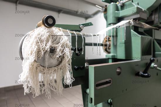Vintage Binding Machine Closeup Detail Industrial Printing Equipment Finishing