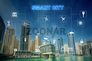 Concept of smart city and internet of things