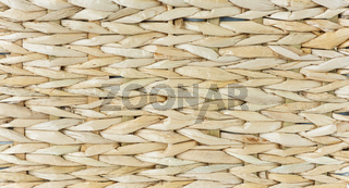 Wicker background close-up