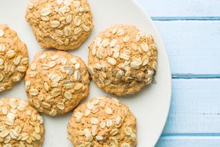 Sweet oatmeal cookies.