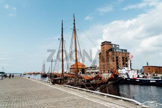 The Old Hansa Harbor of Wismar, Germany