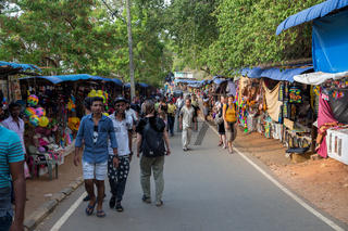Stalls along the road towards Koneswaram Temple in Trincomalee, Sri Lanka