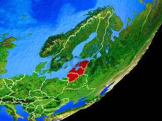 Baltic States on Earth from space