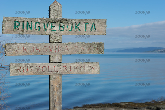 Hiking Trail on Peninsula Lade in Trondheim