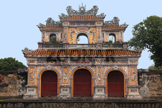 The Gate to the Citadel of the Imperial City in Hue, Vietnam