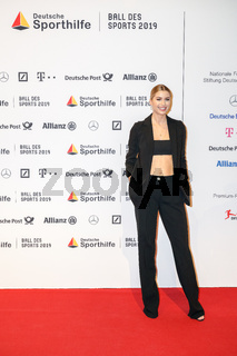 WIESBADEN, Germany - February 2nd, 2019: Lena Gercke at Ball des Sports 2019