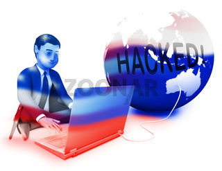 Russian Hacker Moscow Spy Campaign 3d Illustration