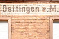 City sign Dettingen