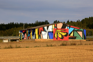 Public Art by Sobekcis on Rural Barn