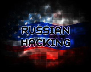 Russian Hacking Election Attack Alert 2d Illustration
