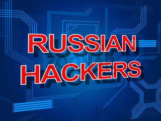 Russian Hackers Electronic Circuit Message 3d Illustration