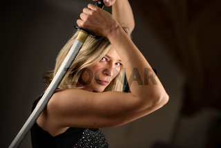 Female fighter with sword