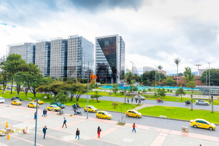 Bogota city  State Accounting Office  buildings in Salitre district