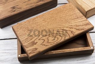 Wooden photo box for photo storag