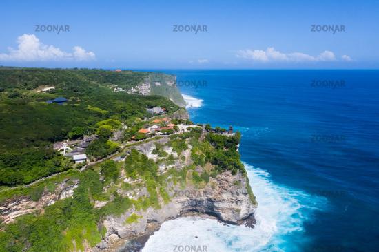 aerial view of beautiful bali island landscape